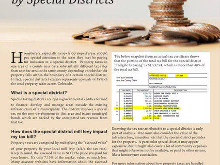 Beware Taxation by Special Metro Districts
