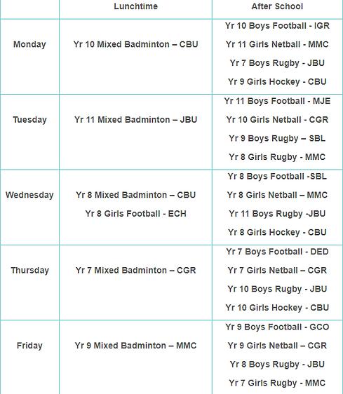 PE Extra-Curricular Timetable - Autumn Term Week 1.png