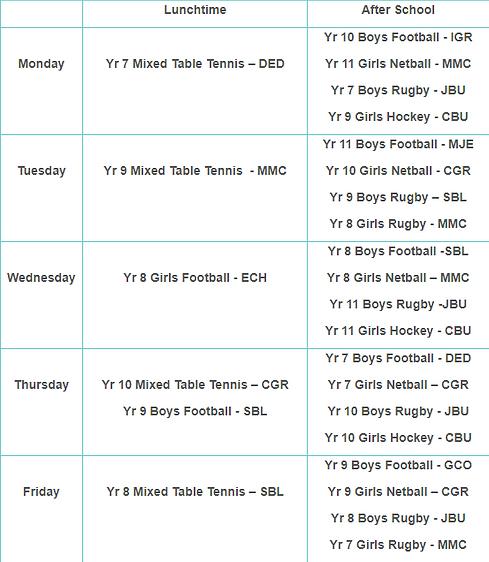 PE Extra-Curricular Timetable - Autumn Term Week 2.png