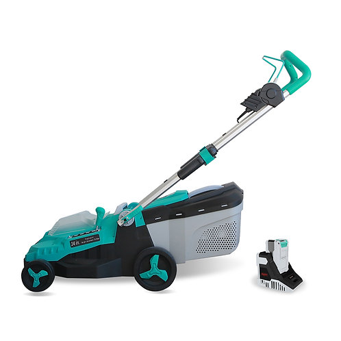 Realm 14-Inch 40V Lithium-Ion Cordless Lawn Mower, 4.0 AH Battery Included RM-LM