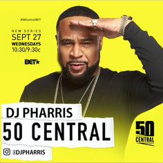 """DJ Pharris Brings The Music On 50 Cent's New Show """"50 Central"""""""