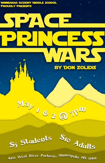 Space Princess Wars Poster
