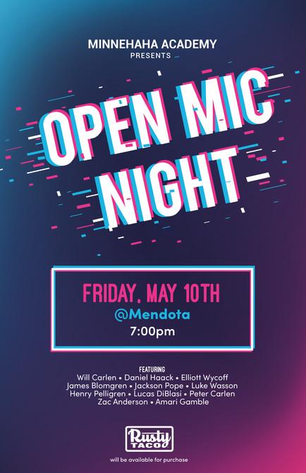 Open Mic Night Spring Poster