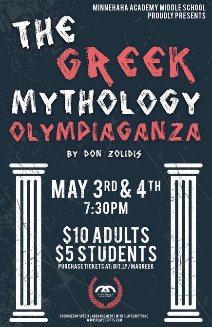 The Greek Mythology Olympiaganza Poster