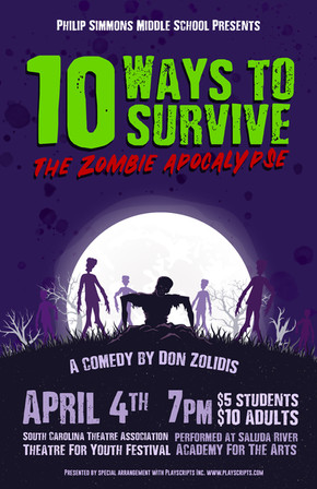 10 Ways To Survive The Zombie Apocalypse Poster
