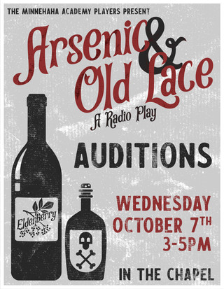 Arsenic & Old Lace Auditions Poster
