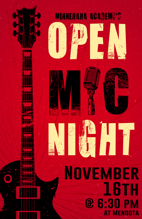 Open Mic Fall Poster
