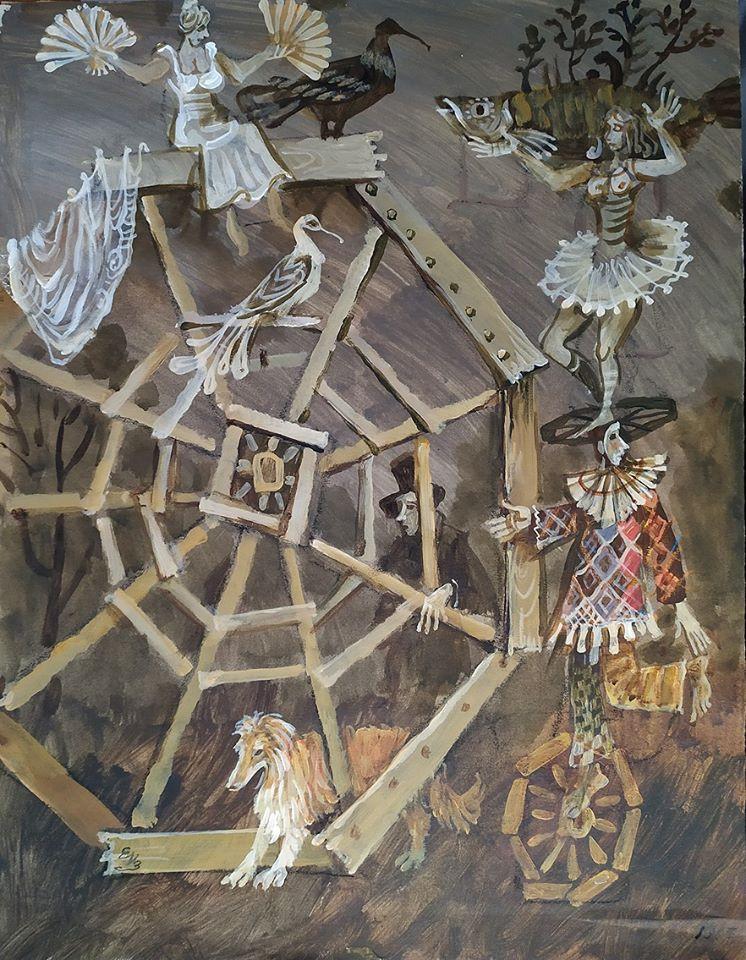 Евгений Измайлов, колесница, рисунок, выставка, Artcltivator