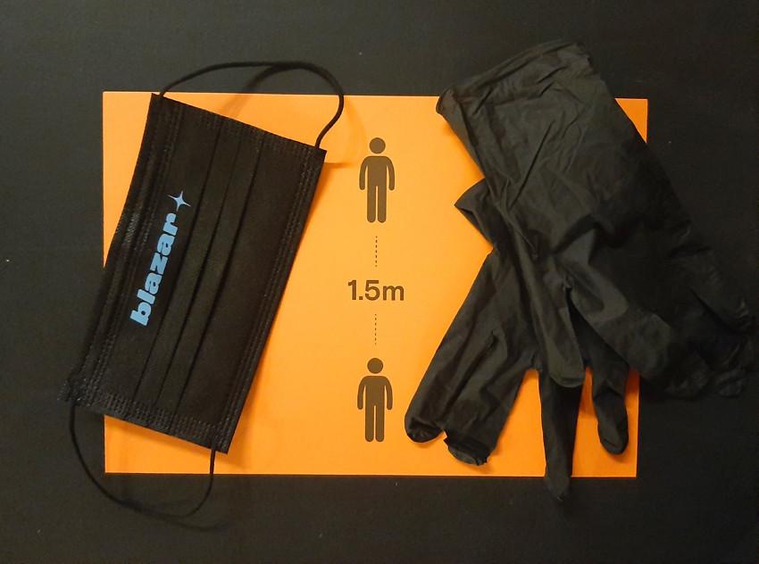 маска, перчатки, ярмарка blazar, черный, оранжевый, artcultivator