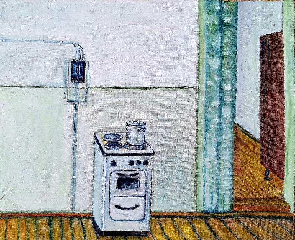 неизвестные наивные, плита, кухня, выставка наивного искусства, арткультиватор