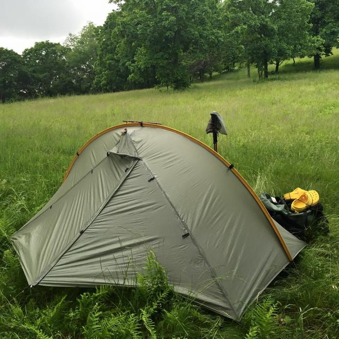 Camping at Hog Camp Gap (mile 812.7)
