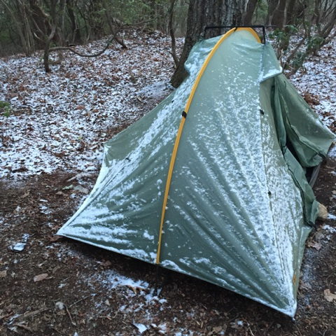 Snow on the tent