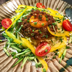 鹿肉味噌のジャージャー麺