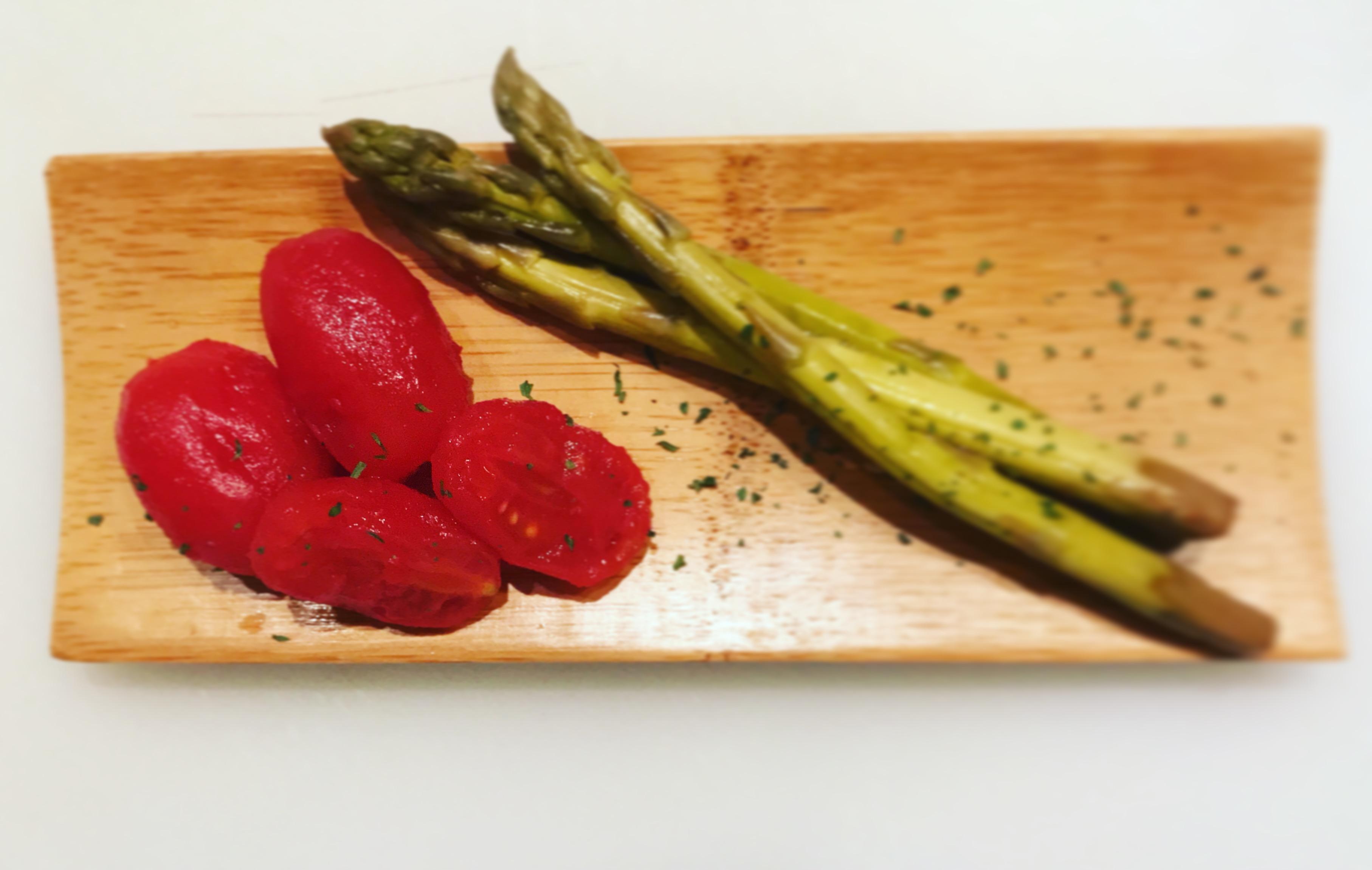 アイコトマトとアスパラの和風ピクルス