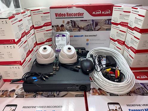 KIT2AHD310W720P. Комплект видеонаблюдения на 2 внутренние камеры HD720P.