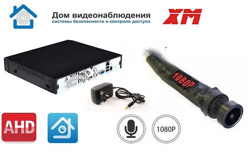 KIT1AHDMINI05AHD1080P. Комплект видеонаблюдения на 1 миниатюрную AHD камеру 2МП.
