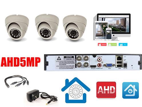 KIT3AHD300W5MP. Комплект видеонаблюдения на 3 внутренние камеры 5мП.