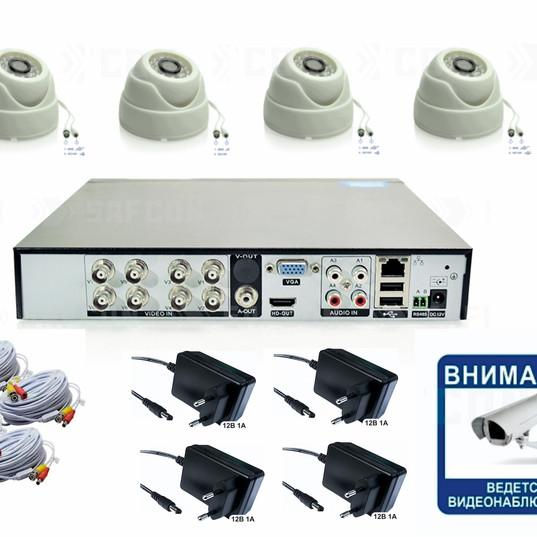 7650р. HD720P. Комплект видеонаблюдения на 4 внутренние HD720P камеры.