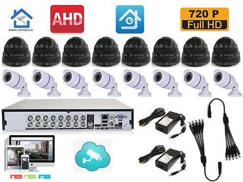 KIT16AHD100W300B720P. Комплект на 8 внутренних и 8 уличных камер HD720P