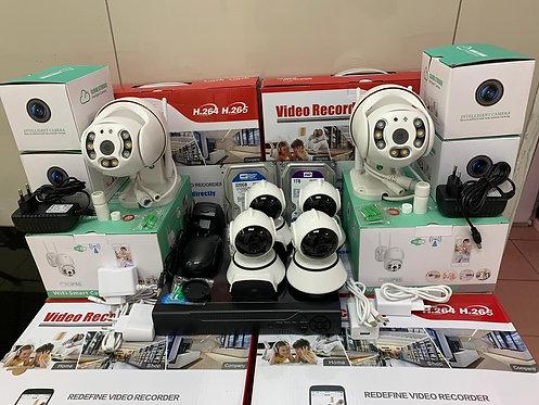 KIT6IPWF4V380-2MQ.Комплект IP Wi-Fi видеонаблюдения на 6 поворотных камер