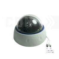 SAF-AHD395.4MP.(Пластик/Белая). Внутренняя камера AHD4MP, 0.001Лк, 2.8-12мм, с И