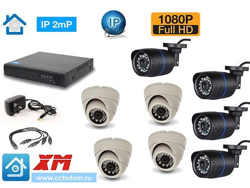 KIT8IP100B300W1080P. Комплект IP видеонаблюдения на 8 камер 2мП 1080P