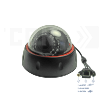 SAF-IPA395.Full HD.(Пластик/Черная). Внутренняя 2мП IP камера с ИК.