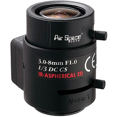 LMVZ38A-IR. Вариофокальный объектив 3-8мм. АРД, ИК фильтр.