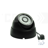 DVB300IP5MP(Пластик/Черная). Внутренняя камера IP 5MP, 0.001Лк, 3.6 мм, с ИК.