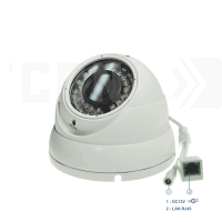 SAF-IP1200.Full HD(Пластик/Белая). Уличная IP камера видеонаблюдения.