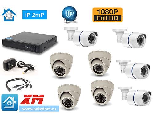 KIT8IP100W300W1080P. Комплект IP видеонаблюдения на 8 камер 2мП 1080P