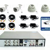 8050р. HD720P. Комплект видеонаблюдения на 2 внутренние и 2 уличные HD720P камеры.