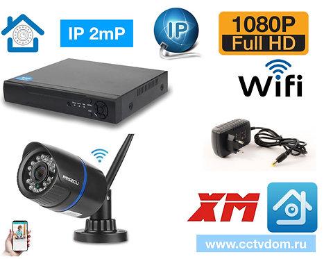 KIT1IPWF100B1080P. Комплект IP Wi-Fi видеонаблюдения на 1 камеру