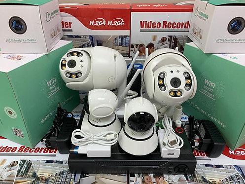 KIT4IPWF380MQ. Комплект IP Wi-Fi видеонаблюдения на 4 поворотные камер