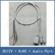 CIPAW. Кабель для IP камер RJ-45+PW+Audio (Белый).