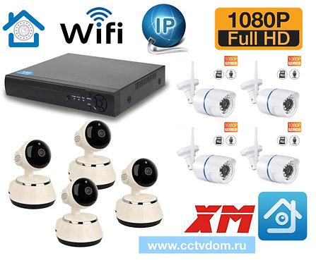 KIT8IPWF380100W. Комплект IP Wi-Fiвидеонаблюдения на 8 камер