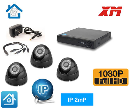 KIT3IP300B1080P. Комплект IP видеонаблюдения на 3 внутренние  камеры 2 мП Full H