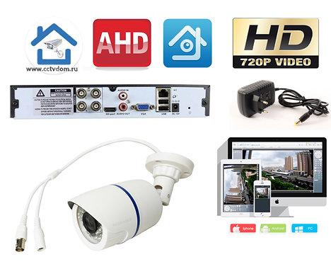 KIT1AHD100W720P. Комплект видеонаблюдения на 1 уличную HD720P камеру.