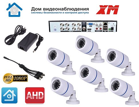 KIT6AHD100W1080P. Комплект видеонаблюдения на 6 уличных FULL HD 1080P камер.