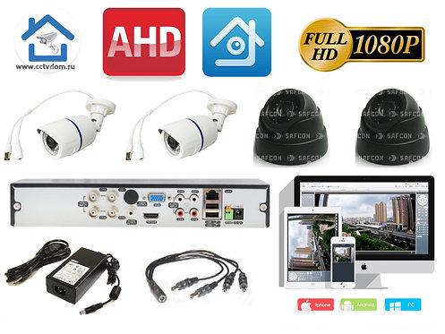 KIT4AHD100W300B1080P. Комплект системы видеонаблюдения на 4 камеры