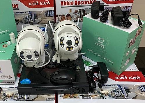 KIT2IPWFMQ1080P. Комплект IP Wi-Fi видеонаблюдения на 2 поворотные камеры