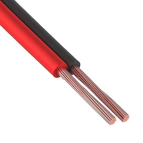 01-6103-6. Кабель акустический, 2х0.50 мм², красно-черный, 100 м