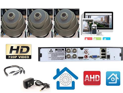 KIT3AHD310S720P. Комплект видеонаблюдения на 3 внутренних камеры AHD 1 мП HD720P