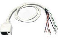 CIPW-2. Кабель для IP камер RJ-45+PW (Белый)