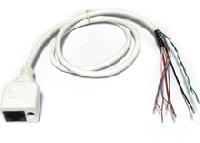 CIPW-2. Кабель для IP камер RJ-45+PW (Бе