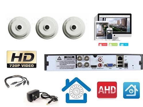 KIT3AHD310W720P. Комплект видеонаблюдения на 3 внутренних камеры AHD 1 мП HD720P