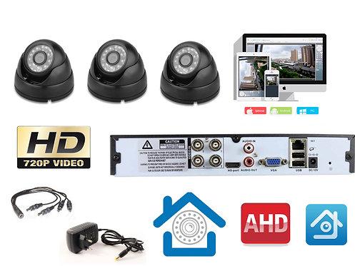 KIT3AHD300B720P. Комплект видеонаблюдения на 3 внутренние HD720P камеры.