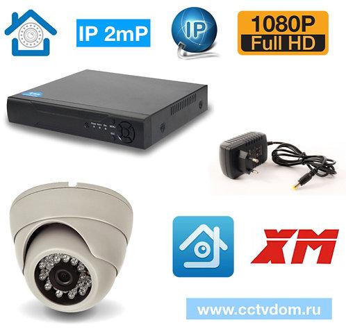 KIT1IP300W1080P. Комплект IP видеонаблюдения на 1 камеру 2мП 1080P