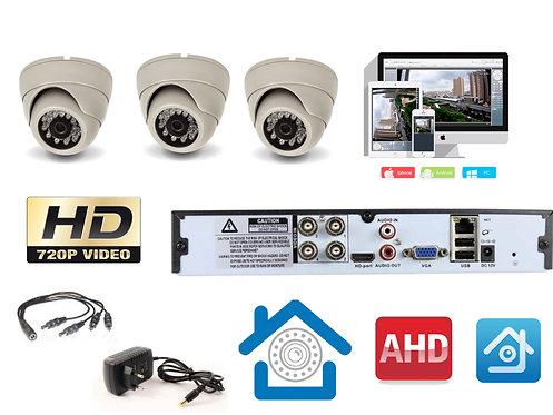 KIT3AHD300W720P. Комплект видеонаблюдения на 3 внутренние HD720P камеры.