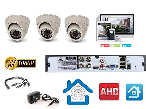 KIT3AHD300W1080P. Комплект видеонаблюдения на 3 внутренние 1080P камеры.